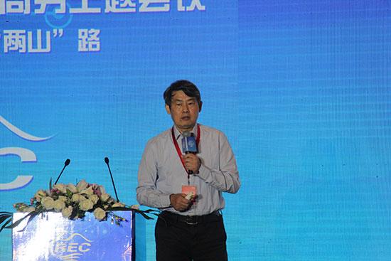 中国社会科学院信息化研究中心原主任汪向东在第二届中国农村电子商务主题会议上作主题演讲