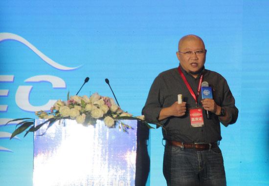 果乐乐创始人兼CEO陈功伟在第二届中国农村电子商务主题会议上作主题演讲